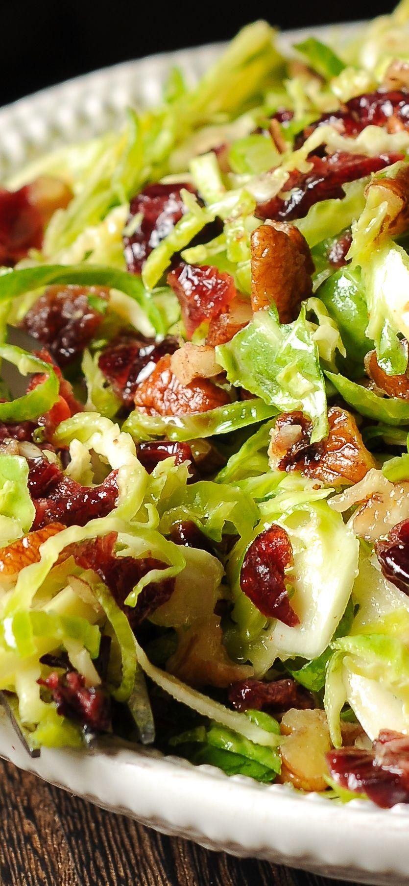 Brussels Sprouts Cranberry Pecan Salad  - Fitness - #Brussels #Cranberry #Fitness #Pecan #Salad #Spr...