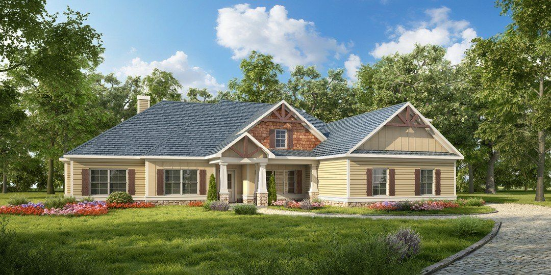 HPM Home Plans | Home Plan: 638-2435 | Craftsman house ...
