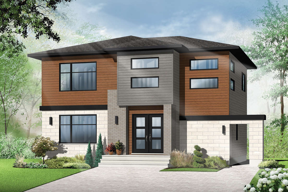 House Plan 034-01188 - Contemporary Plan: 1,880 Square ...