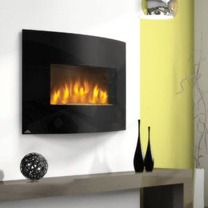 Napoleon Curved 32 Wall Mount Electric Fireplace Efc32h At