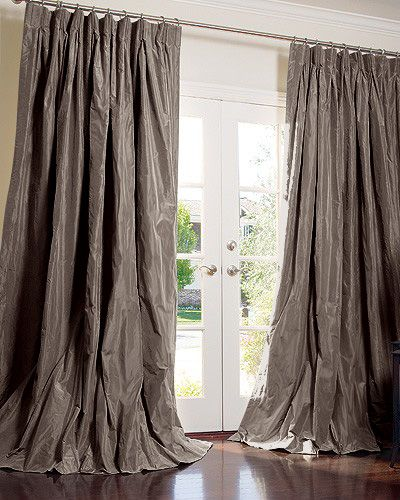 Puddles Of Charcoal Taffeta More Silk DrapesDrapery