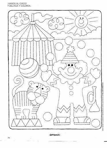 pin von nadja knoll auf feinmotorik circo preescolar hojas de trabajo preescolar und trazos. Black Bedroom Furniture Sets. Home Design Ideas
