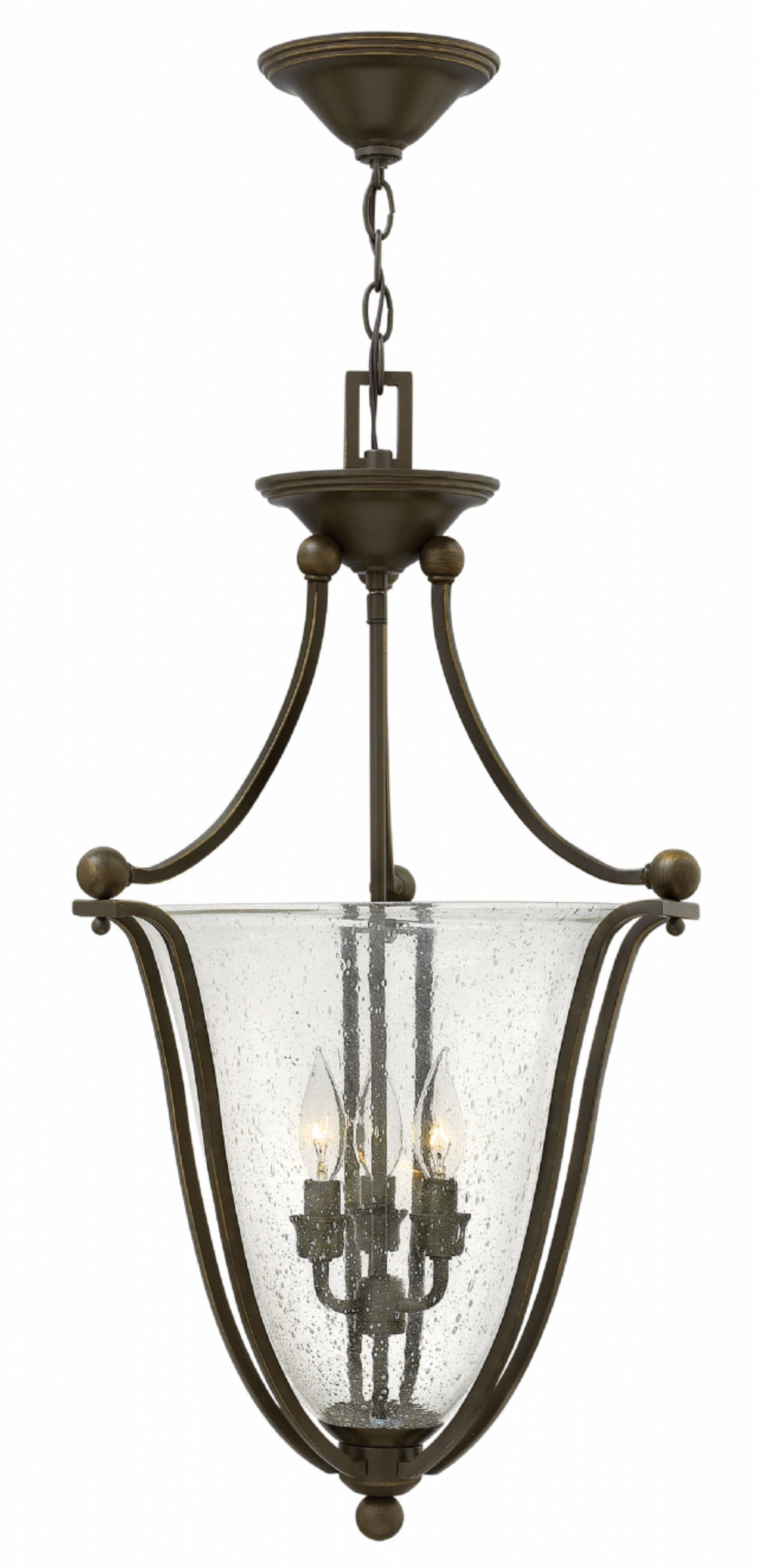 Hinkley Lighting 4663 3 Light Full Sized Foyer Pendant From The Bolla Collection Olde Bronze Clear Indoor Pendants