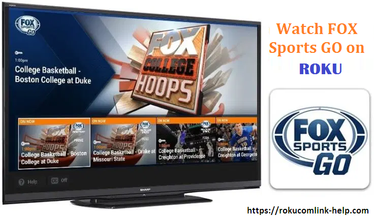 Activate FOX Com Sports channel, Roku channels, College