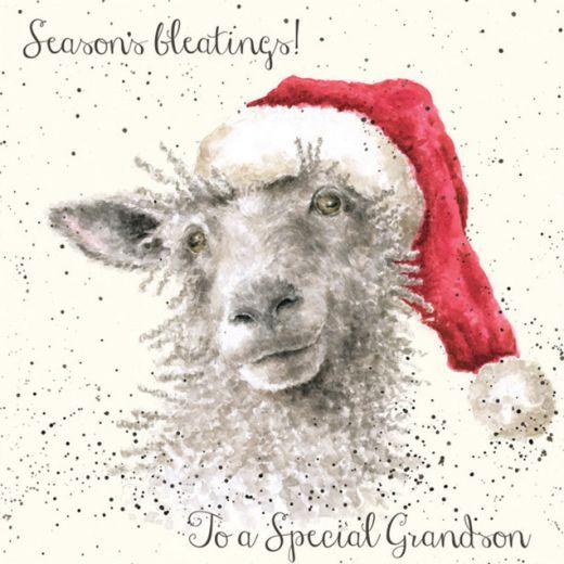 'Seasons Bleatings' Christmas card