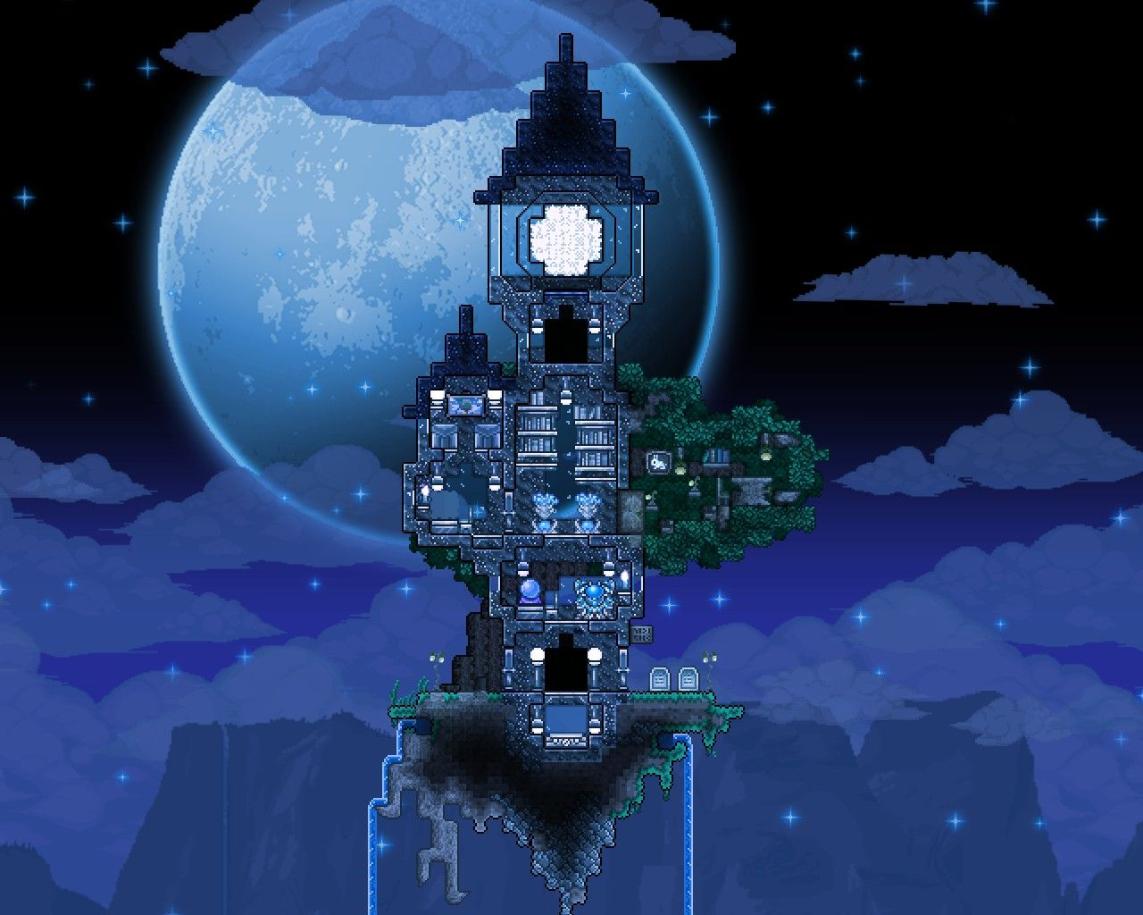 My Homage To To The Moon Terrarium Base Terrarium Terraria