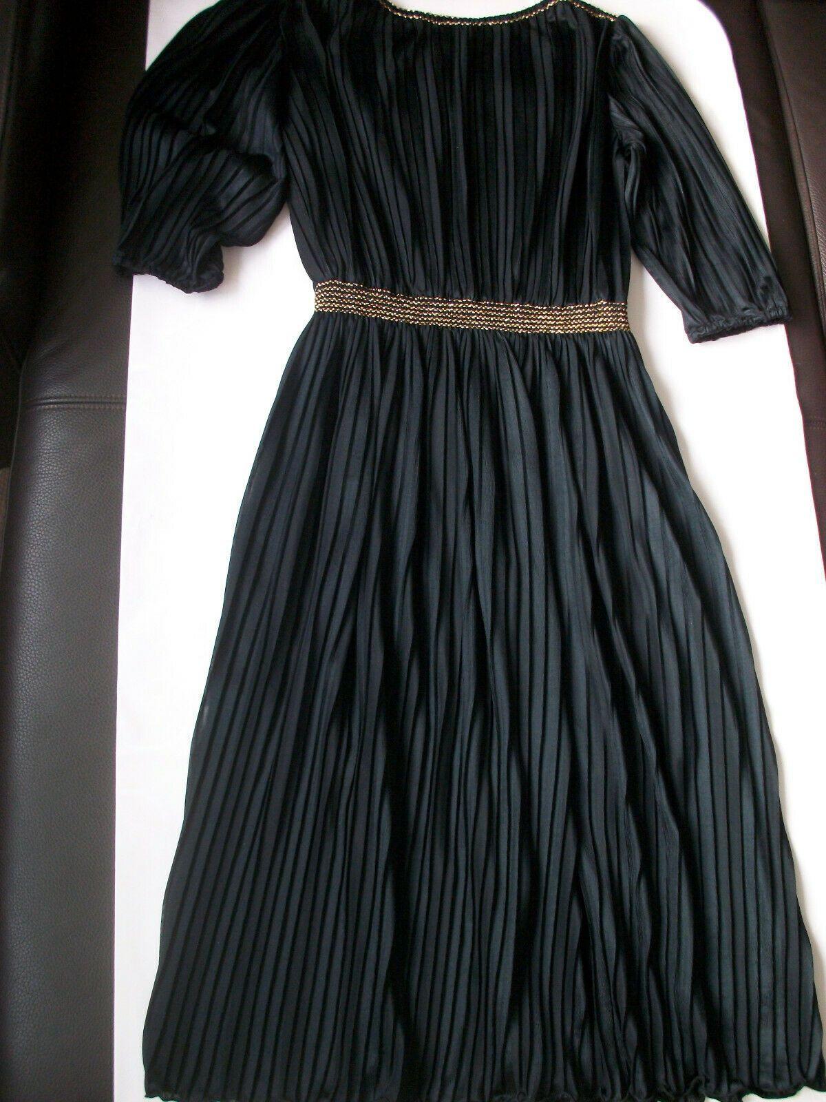 Schickes Plissee Kleid Abendkleid schwarz Cocktail Party festlich