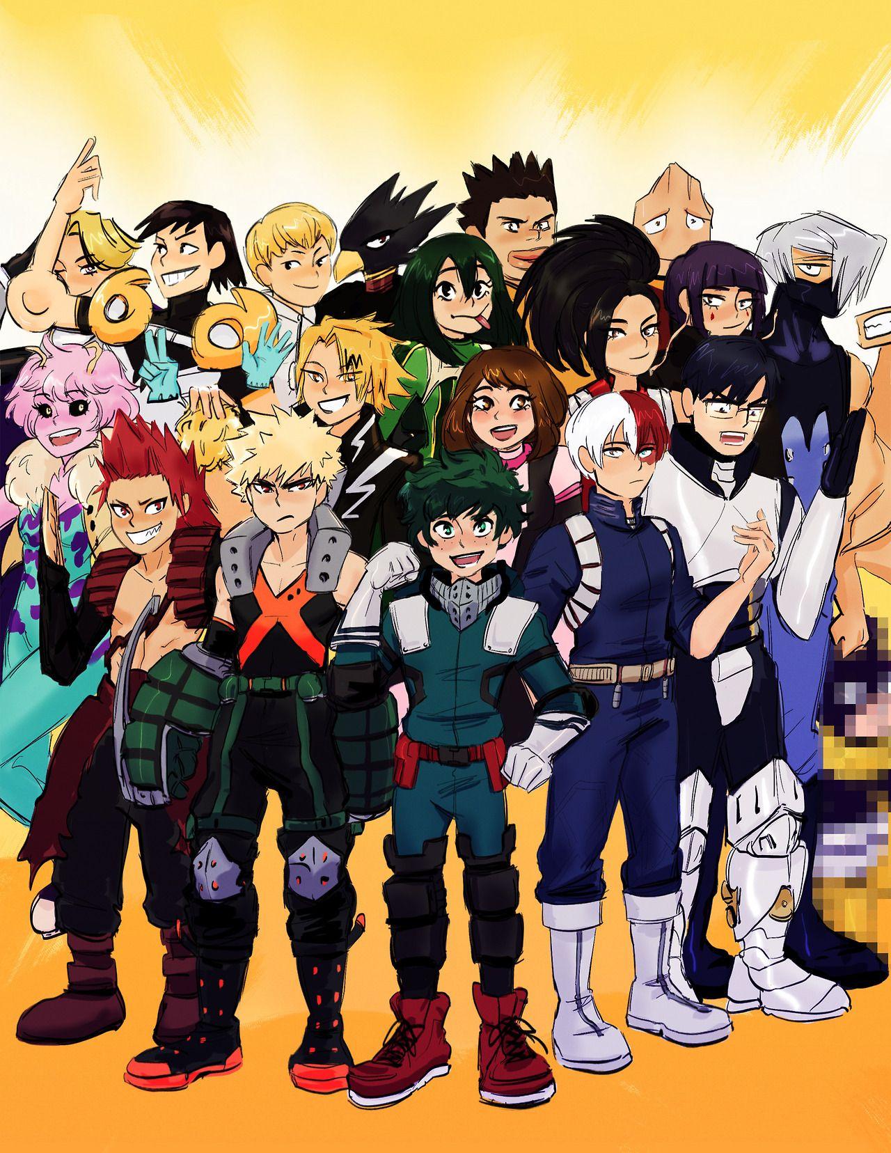 Plus Ultra I Finally Drew All The Class 1 A Kids Group Hero My Hero My Hero Academia Tsuyu