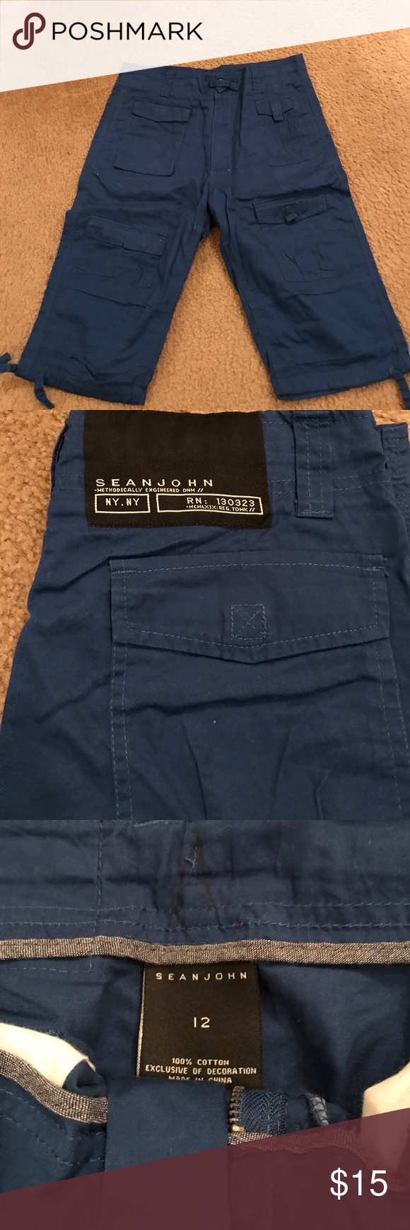 Sean John shirt/Capri style Sean John, blue shorts/Capri style size 12 Sean John Bottoms Shorts