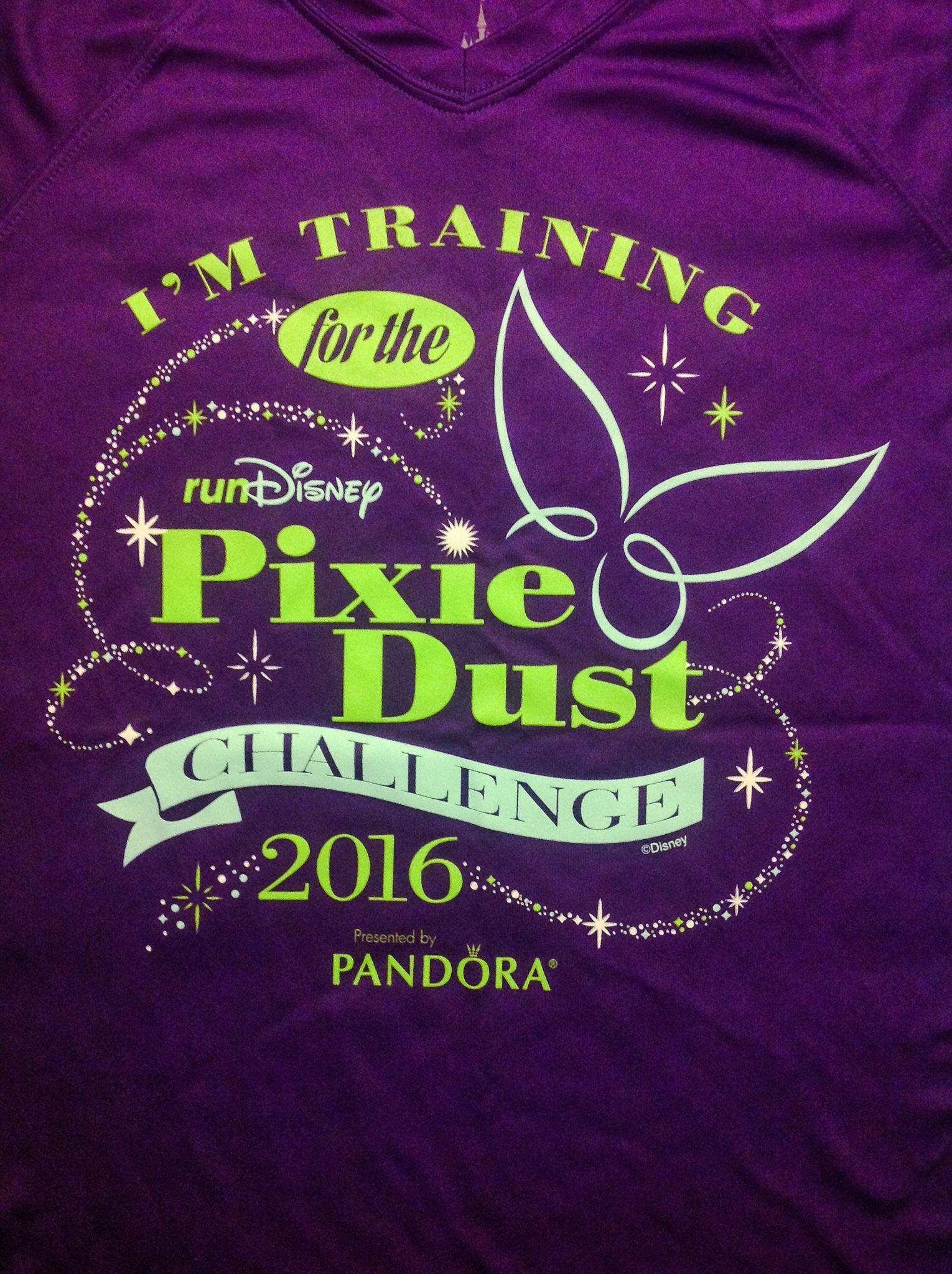 Pixie Dust Challenge,  Tinkerbell Half Marathon Weekend 2016,  Disneyland,  training shirt