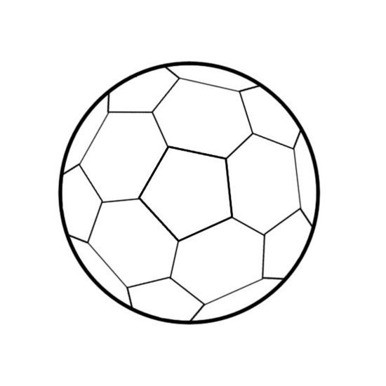 How To Draw A Soccer Ball Soccer Ball Soccer Soccer Banner