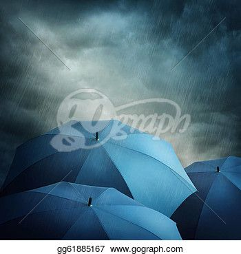 """""""Dark stormy clouds and umbrellas"""" - Rain Stock Photos from Go Graph"""