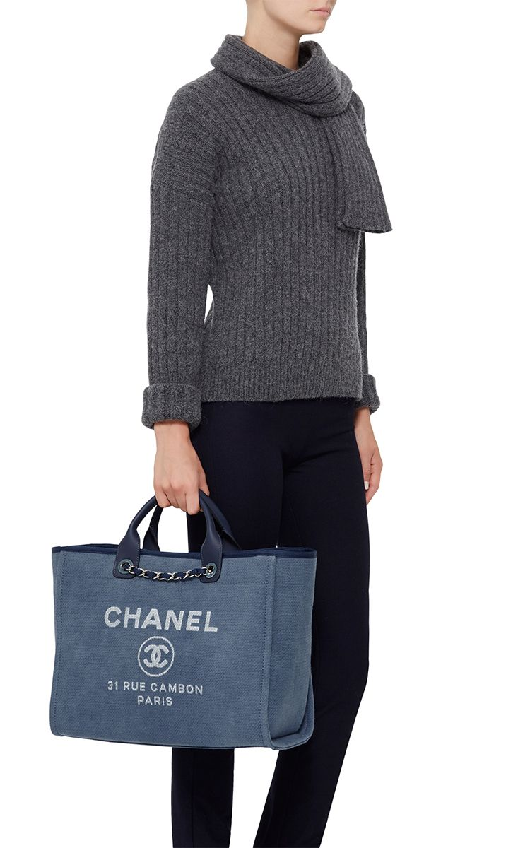 83aad7e16eb5 Chanel Large Deauville Canvas Tote Bag by Madison Avenue Couture for  Preorder on Moda Operandi