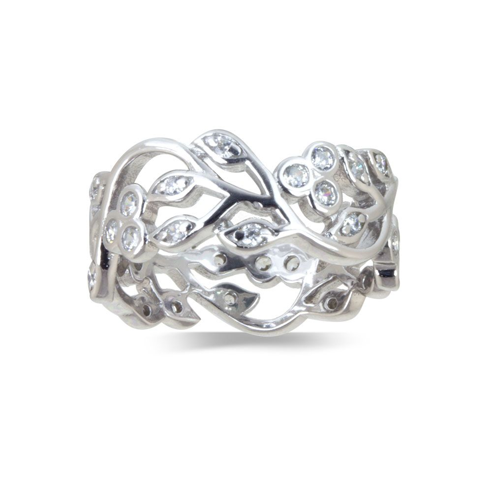 06a4a9264dd Sandra Real Sterling Silver Petal Design Band Ring | Warren James Jewellery