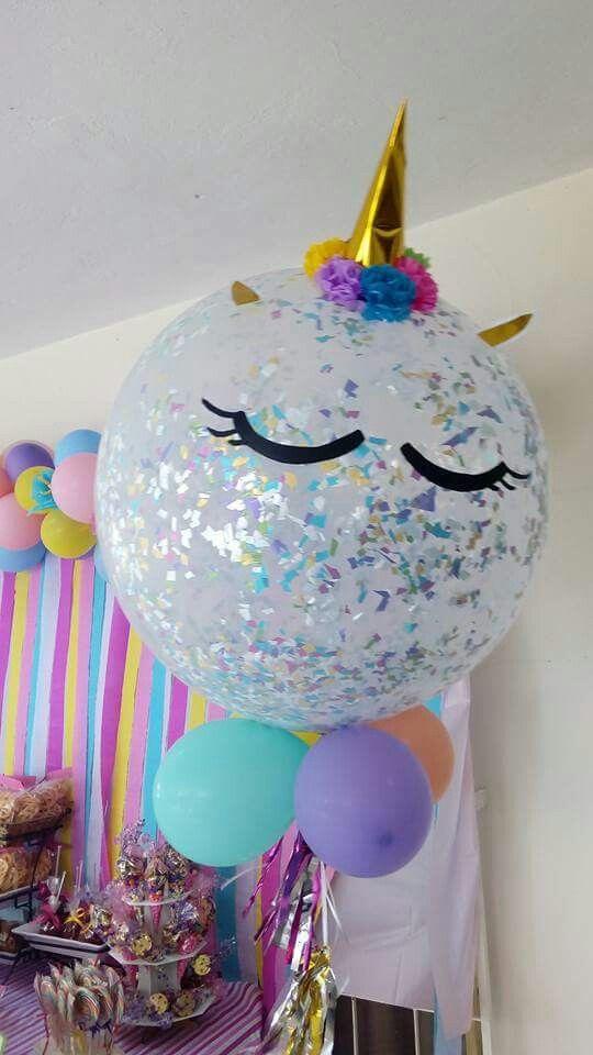 Unicornio globo de unicornio baby shower fiesta de - Fiesta baby shower nina ...