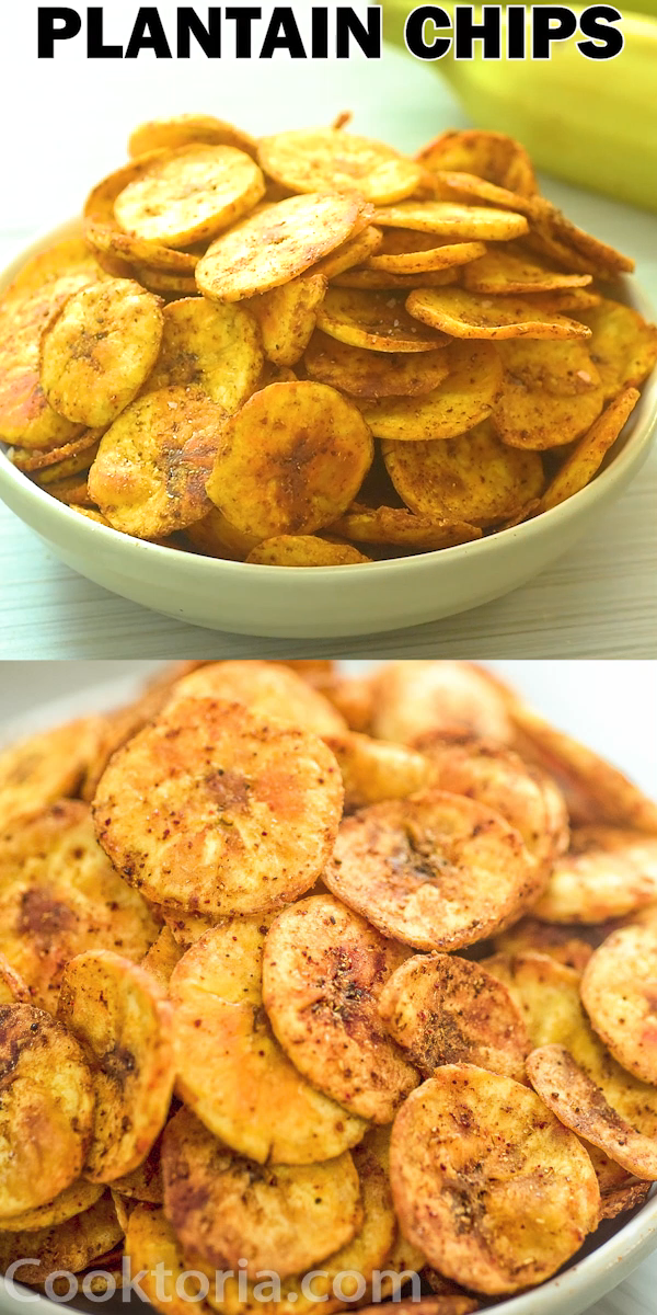 These Homemade Baked Plantain Chips Are Crunchy Healthy And Delicious Make This Recipe Once And Healthy Snacks Recipes Baked Plantain Chips Plantain Recipes