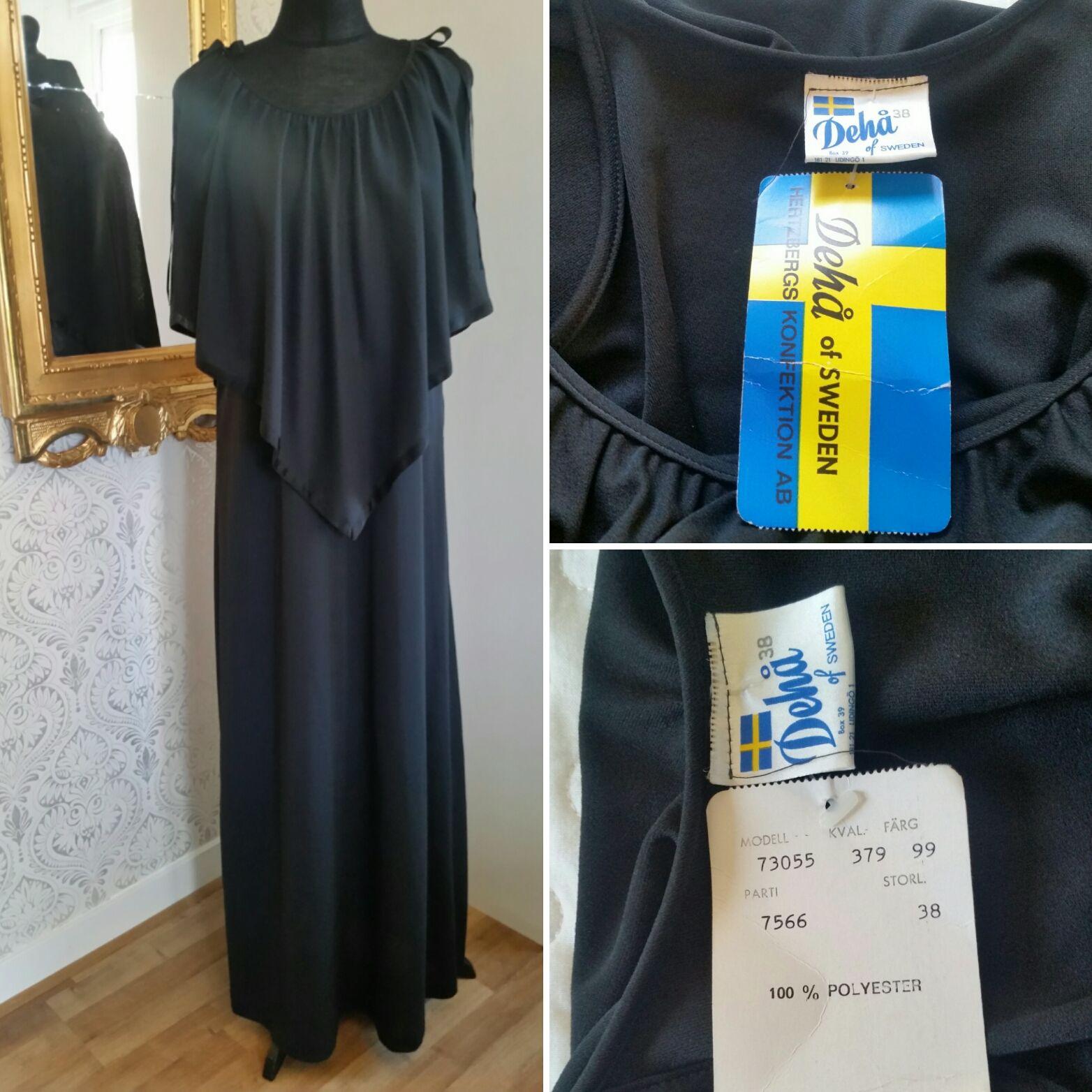 Långklänning Dehå 70-tal  7a01f418f8257