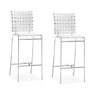Awe Inspiring Zuo Modern 3330 Criss Cross Bar Stool Set Of 2 Furniture Lamtechconsult Wood Chair Design Ideas Lamtechconsultcom