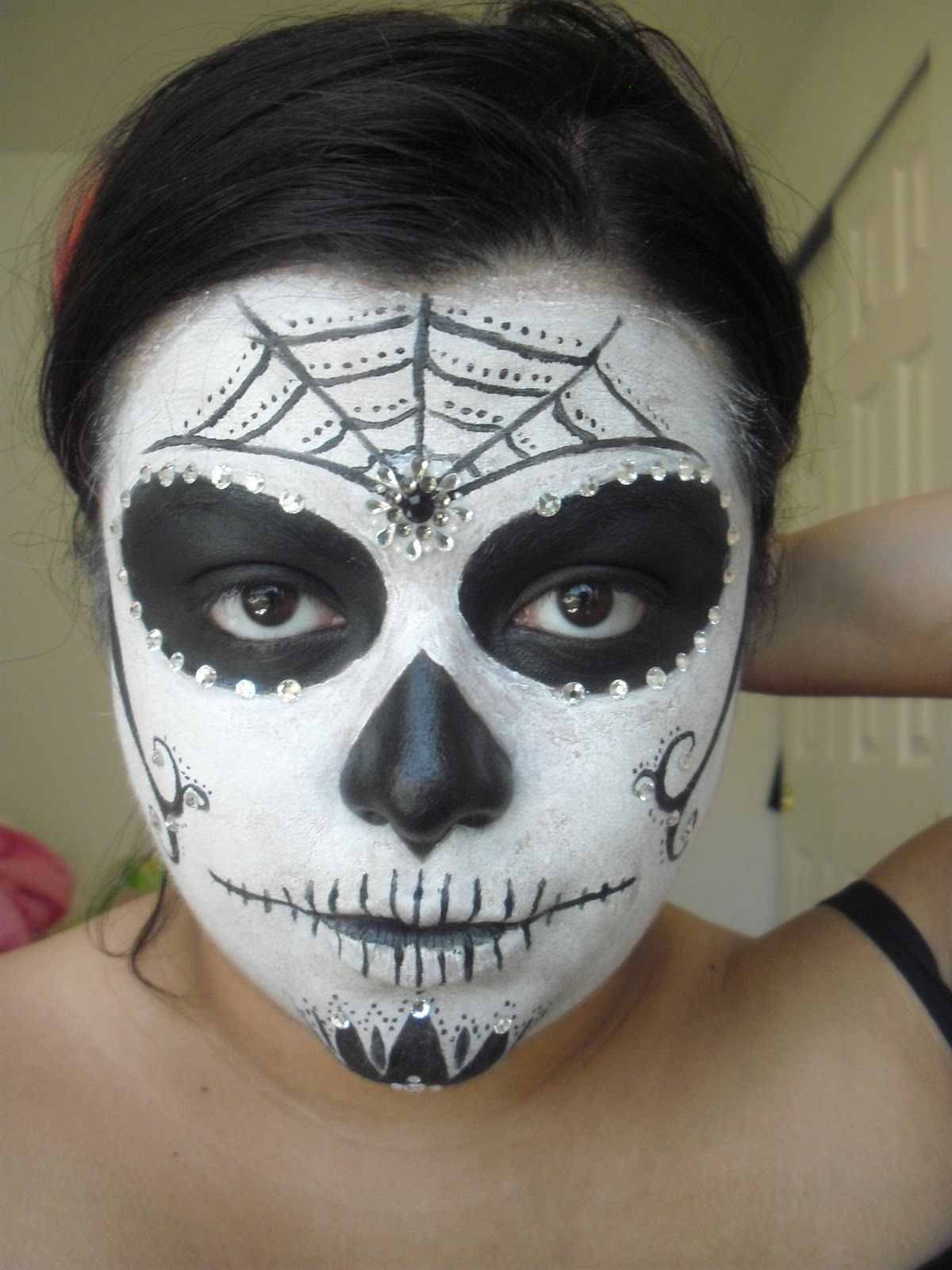 skeleton face painting | Christina D Makeup: Simple Sugar ...