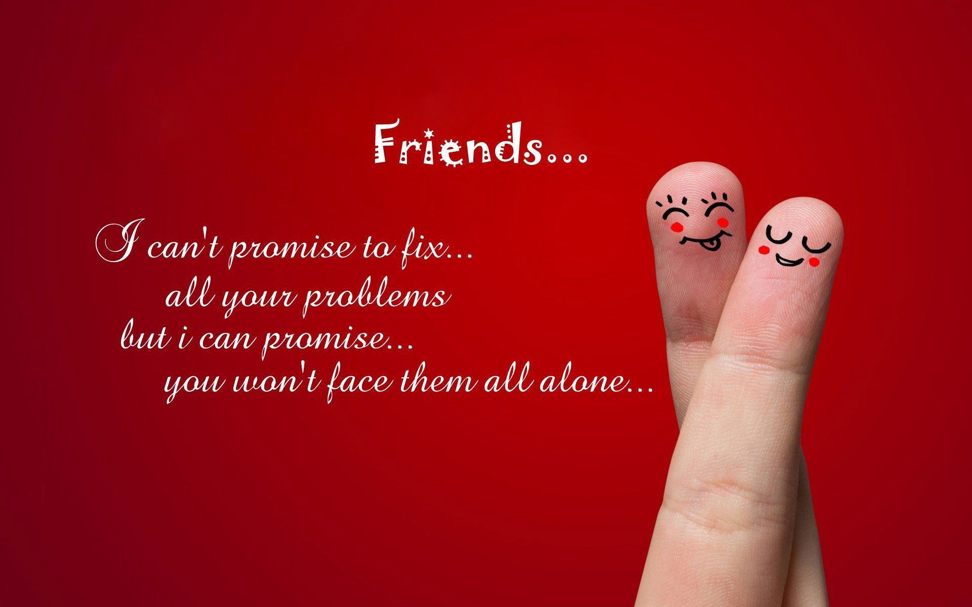 Cute Friendship Quotes With Images Friendship Wallpapers