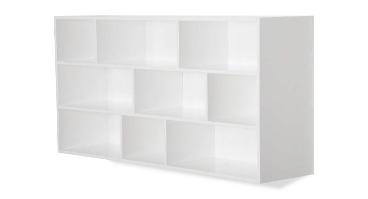 Kast Flip Hoog Hoogglans Gelakt Wit Hacks Shelves