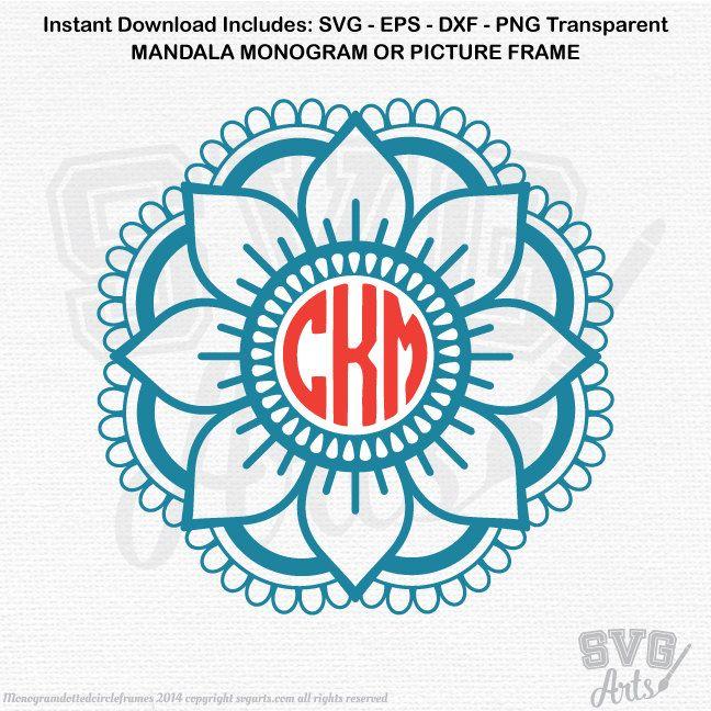Download Image result for mandala monogram frames | Monogram vinyl ...