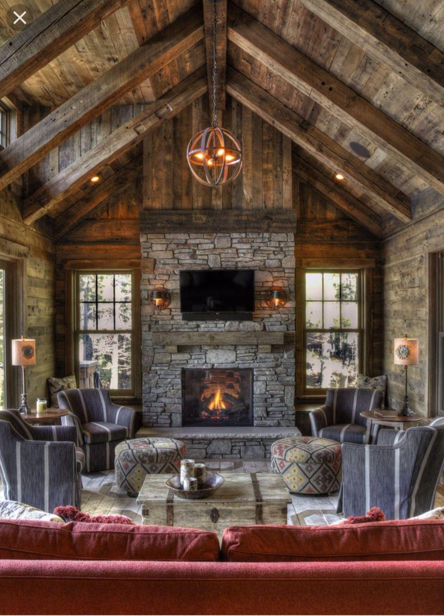 Beautiful Log Cabin Interior Rustic Home Design Rustic House