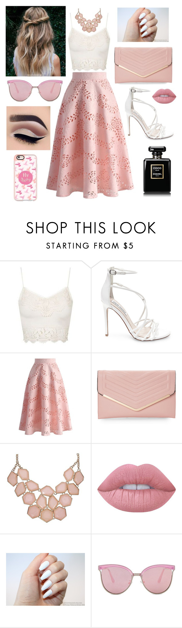 """""""Untitled #202"""" by hallloweenqueen ❤ liked on Polyvore featuring Topshop, Steve Madden, Chicwish, Sasha, Lime Crime, Quay and Casetify"""