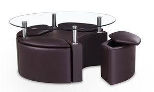 Coffee Table and Four Stools