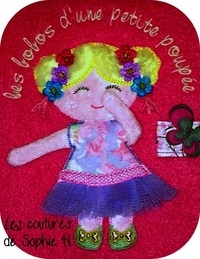 Little Doll Free Embroidery Design Applique Free Designs Machine
