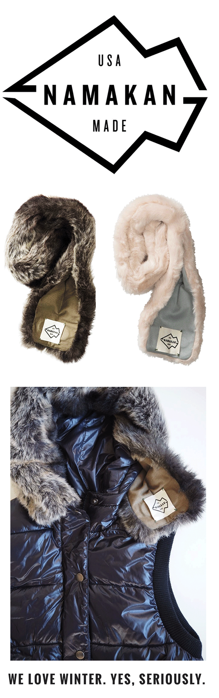 namakan fur ruff // wear it with your favorite puffer!