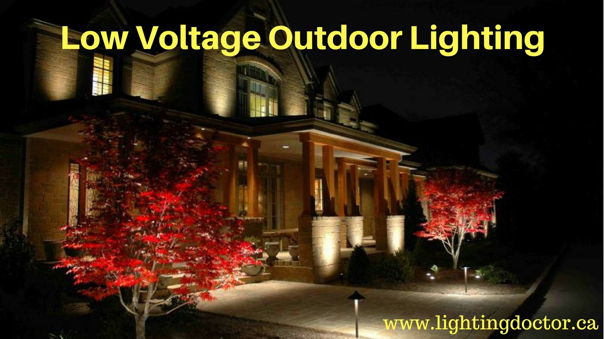 Highlight landscape with low voltage outdoor lighting canada low highlight landscape with low voltage outdoor lighting canada low voltage outdoor lighting highlights the house and aloadofball Gallery