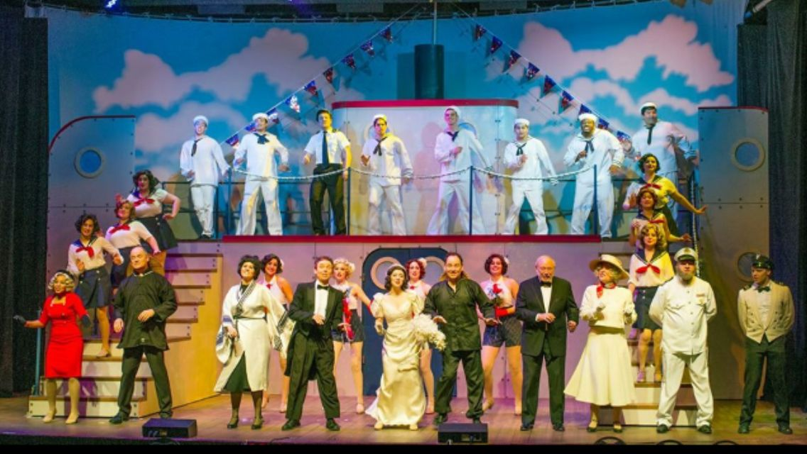 Anything Goes set design by Jacob Brown, CSU, Bakersfield Graduate