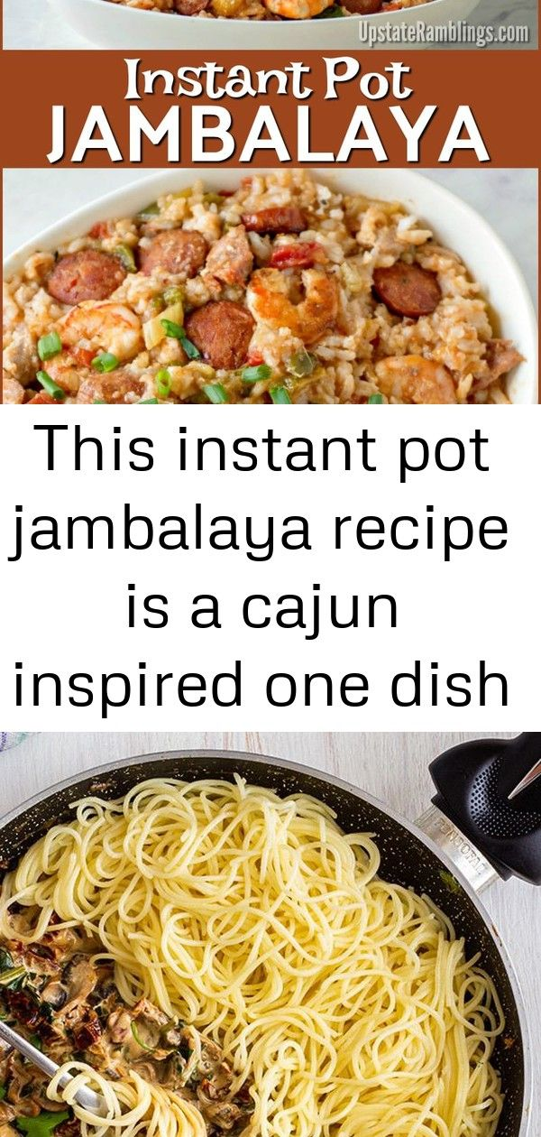 This instant pot jambalaya recipe is a cajun inspired one dish recipe with shrimp andouille sausa 1 This Instant Pot Jambalaya recipe is a Cajun inspired one dish recipe...