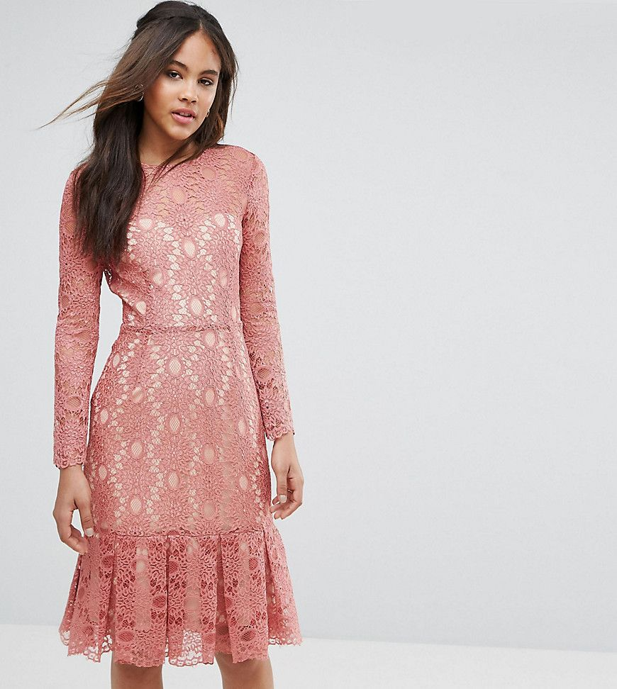 Y.A.S Studio Tall Cadisa All Over Premium Lace Skater Dress | Pinterest