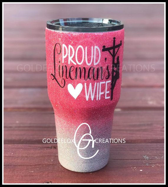 Lineman Wife Tumbler Wife Glitter Ozark Tumbler Glitter Tumbler Mom