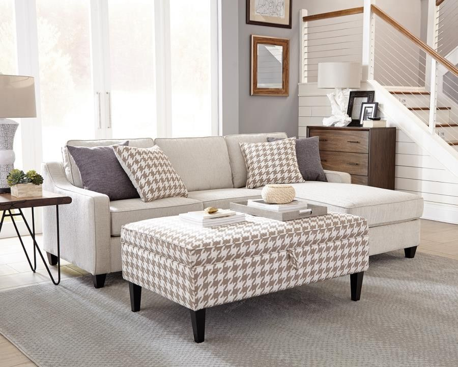 Amazing Montgomery Transitional Cream Sectional Furnishings Gmtry Best Dining Table And Chair Ideas Images Gmtryco