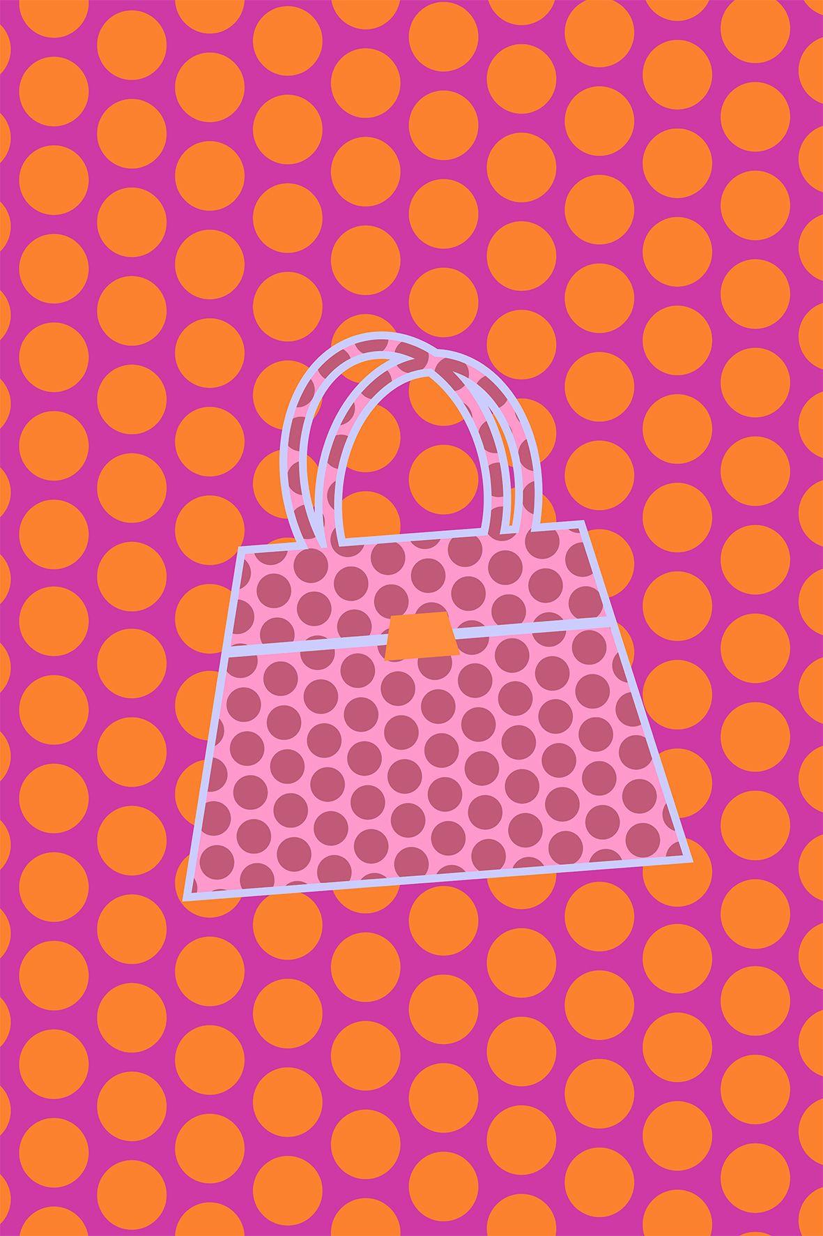 Handbag pop art polka dots by dimitrios pop art