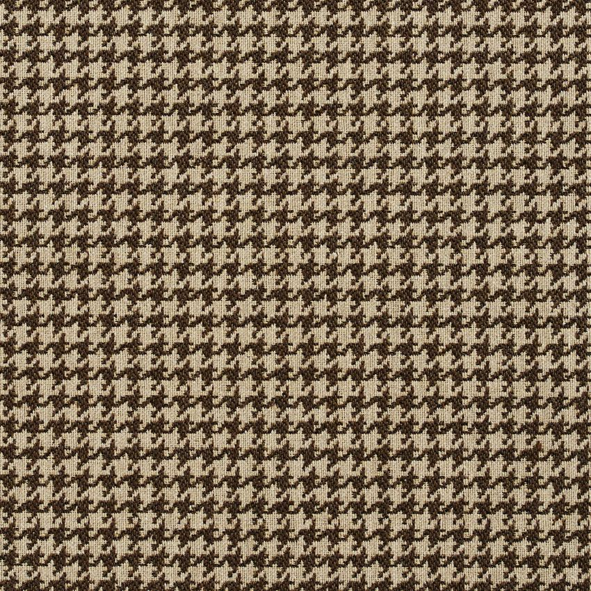 Desert Beige And Brown Houndstooth Tapestry Upholstery Fabric