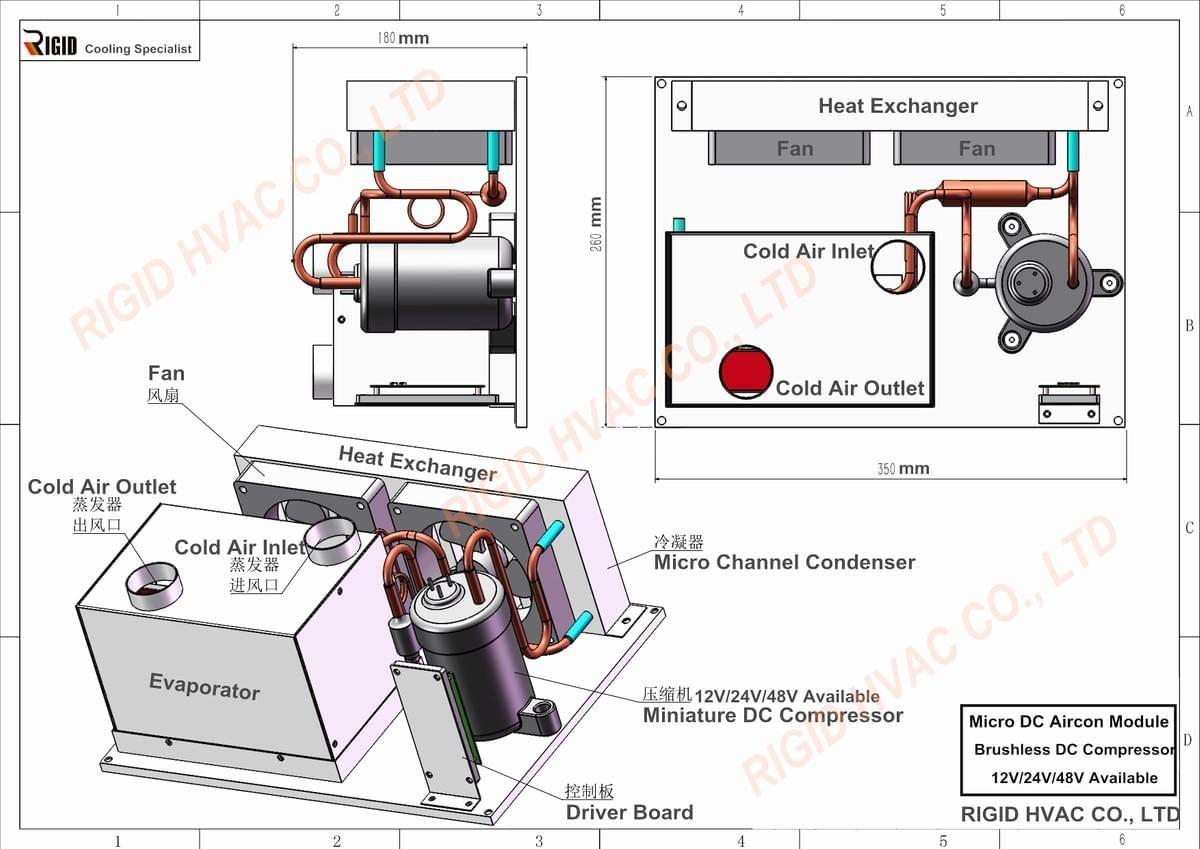 Micro DC Air Conditioner Small DC Air Conditioner Portable