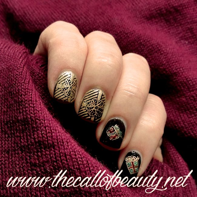 The Call of Beauty: Winter Nail Art Challenge: Wrapping/Christmas ...