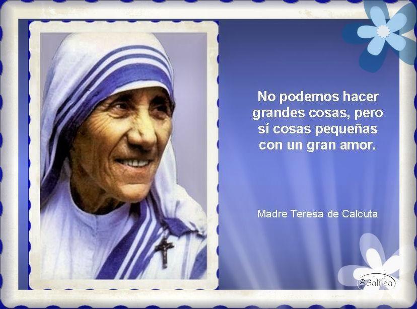 19 Ideas De Frases Madre Teresa De Calcuta Madre Teresa Frases Calcuta
