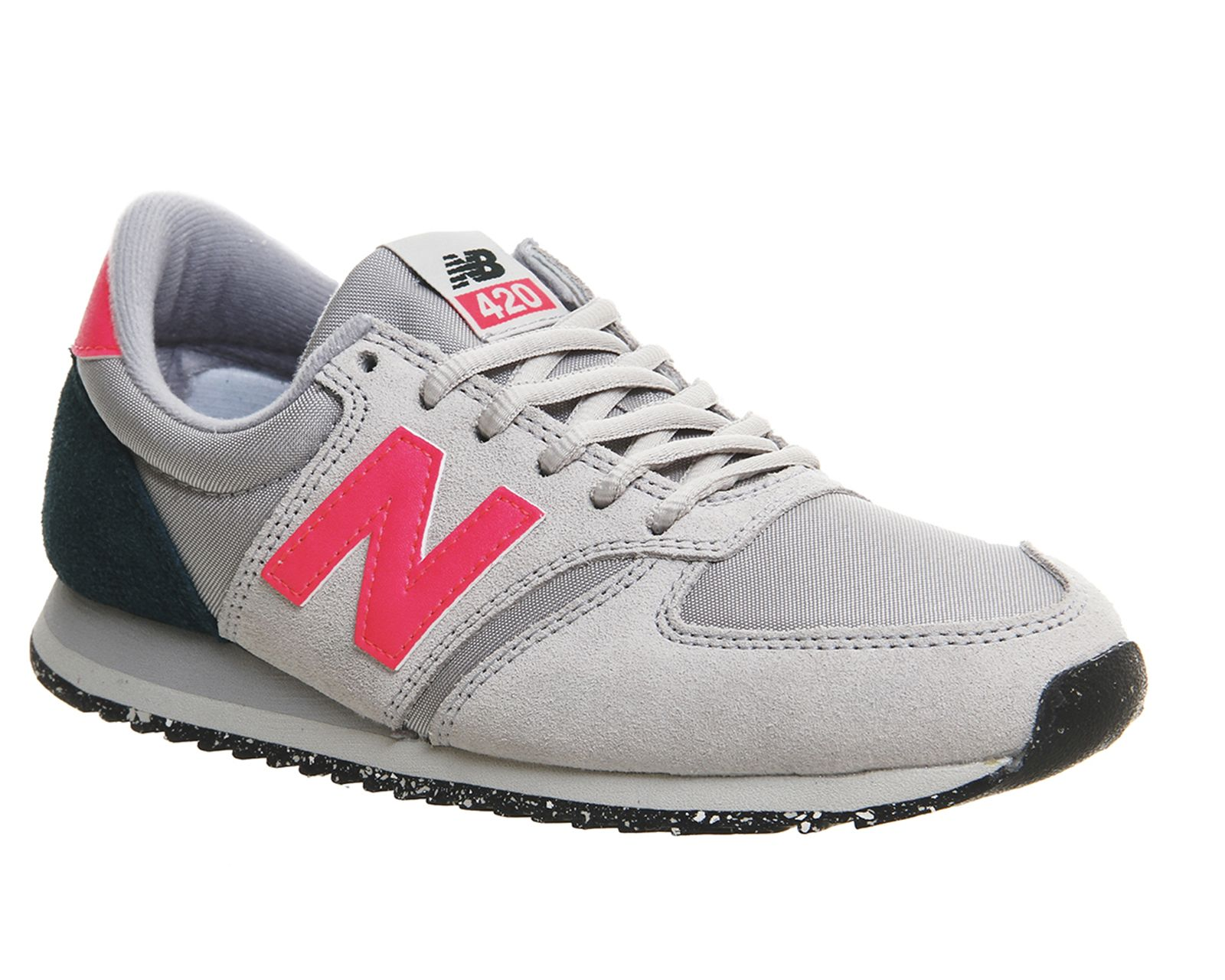 new balance grey and pink 420 trainers