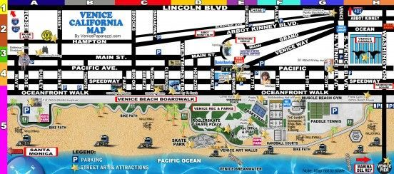 Venice Beach Florida Map.Venice Checklist Things To Do And See In The Venice California