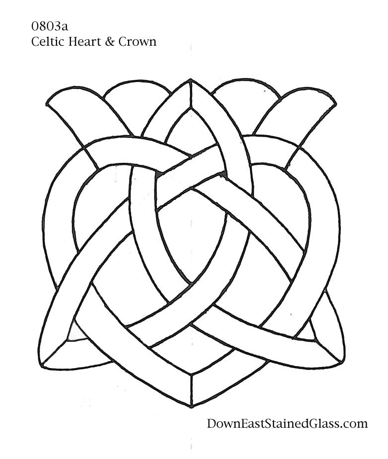 Celtic Heart Stained Glass Pattern | Patterns for mosaics ...
