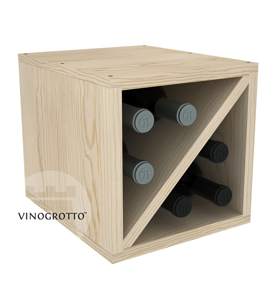 6 bottle wine cube that fully conceals your wine. The right size for your kitchen counter 2 of these cubes stack nicely on our 24 bottle cube.  sc 1 st  Pinterest & 6 Bottle Wine Storage Cube - Exclusive Design - 12