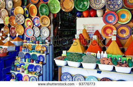 traditional spice market in essaouira / morocco | orientalart