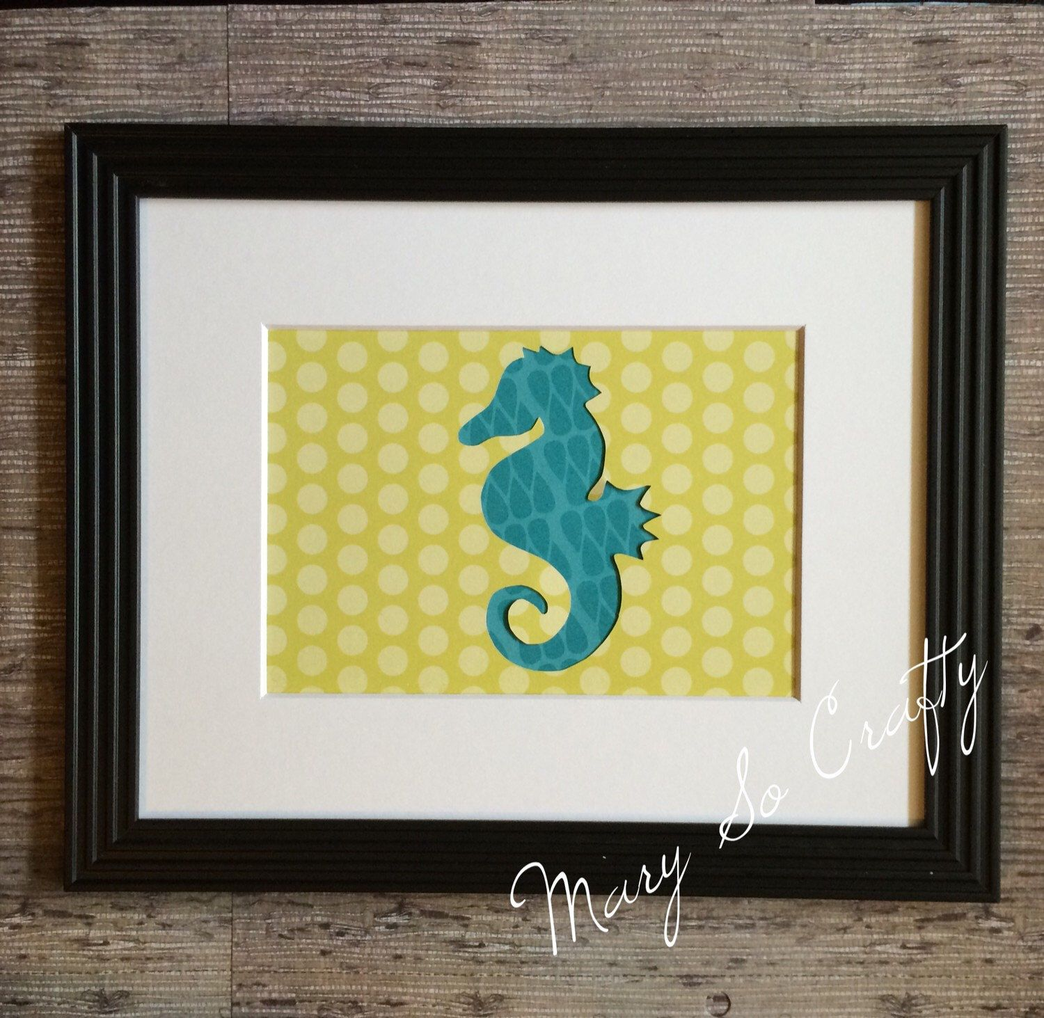 Seahorse Nursery art, Ocean Nursery Decor, Teal & Green Home Decor ...