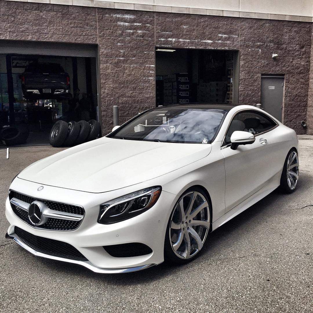 Matte white mercedes benz s coupe boise whips for White mercedes benz truck