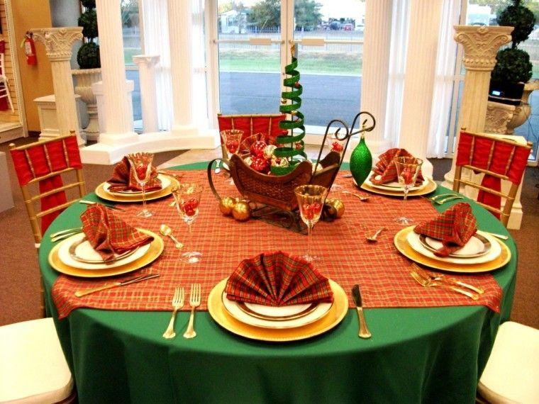 Adornos navide os para la mesa cincuenta ideas geniales - Ideas adornos navidenos ...